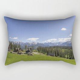Snow Topped. Rectangular Pillow