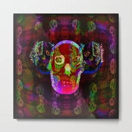 Freakazoid Skulls Metal Print