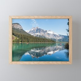 Canada, Yoho NP: Emerald Lake Framed Mini Art Print