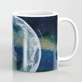 Crescent Moon Mixed Media Painting Coffee Mug