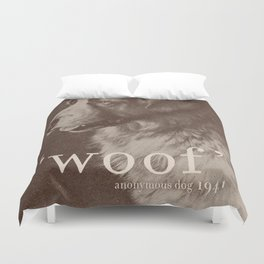 Famous Quotes #1 (anonymous dog, 1941) Duvet Cover