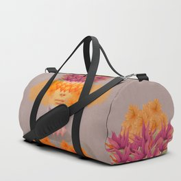Woman in flowers IV Duffle Bag