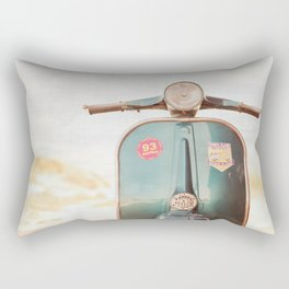 The Blue Vespa Rectangular Pillow
