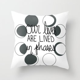 Moon Phases Quote Throw Pillow