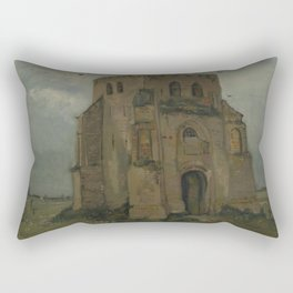 The Old Church Tower at Nuenen Rectangular Pillow