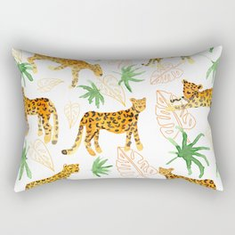 Jumping jungle leopards Rectangular Pillow