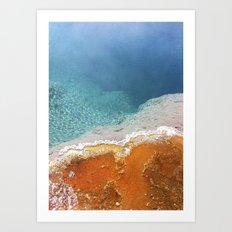 Hot springs Art Print