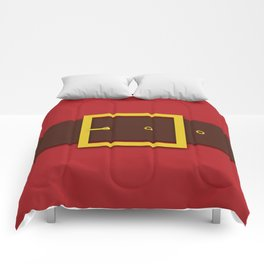 Santa's Belt - Christmas Illustration Comforters