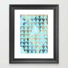 Turquoise Triangles  Framed Art Print