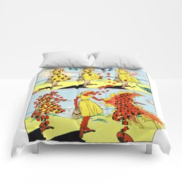 Red Bullets Dress Girl On Fire Comforters