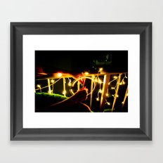 Light Wheel Framed Art Print