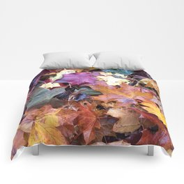 Fallen Fall Leaves Comforters