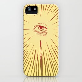 The Man With The Golden Eyeball iPhone Case