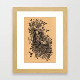 Lady and the fox Framed Art Print