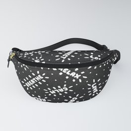 Positive Vibes on Black Fanny Pack