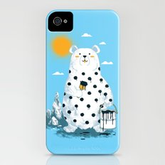 polka bear iPhone (4, 4s) Slim Case