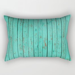 wood turquoise new art grid wod color fun pattern texture style 2018 2019 artist floor wall new Rectangular Pillow