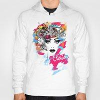 fashion illustration Hoodies featuring fashion illustration by Irmak Akcadogan