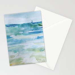 Miami Beach Watercolor #1 Stationery Cards