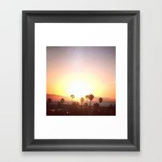 Sunrise & Palms Framed Art Print