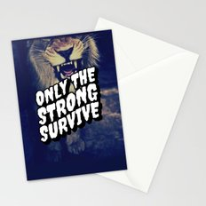 Only the strong Stationery Cards