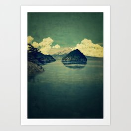 Distant Blues Art Print