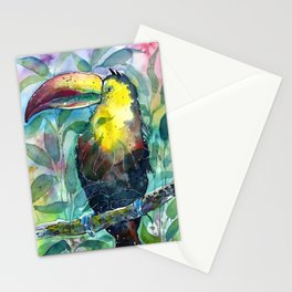TOUCAN, watercolor illustration (nature) Stationery Cards
