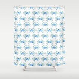 Ocean Blue Crab Shower Curtain