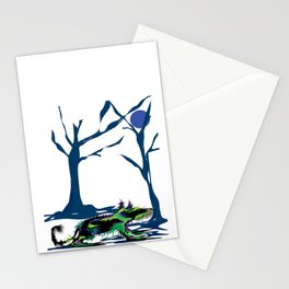 """Wolfdog"" Paulette Lust Original, Contemporary, Whimsical, Colorful Art Stationery Cards"