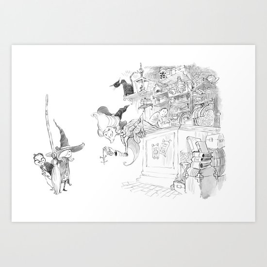 Witch Shop Art Print