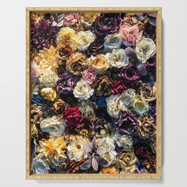 Flower Wall // Full Color Floral Accent Background Jaw Dropping Decoration Serving Tray