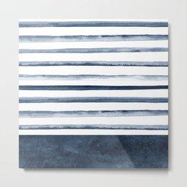 Stripes   Watercolor Pattern Metal Print