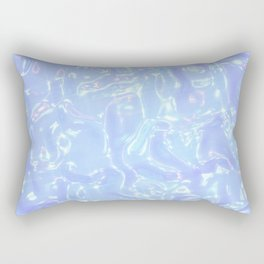 Baby Blue Waves Rectangular Pillow