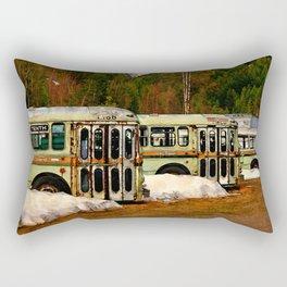 Bus Cemetery Rectangular Pillow