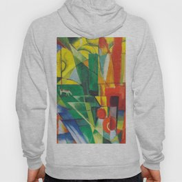 """Franz Marc """"Landscape with House and Two Cows (also known as Landscape with House, Dog and Cattle)"""" Hoody"""