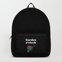 Mens Funny Gardeners Work in their Garden Gift Garden o'clock graphic Backpack