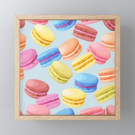 Watercolor Macaroons Framed Mini Art Print