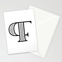 PF monogram Stationery Cards