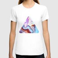 purple T-shirts featuring Agate, a vivid Metamorphic rock on Fire by Elena Kulikova