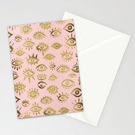 Mystics Eyes – Blush & Gold Stationery Cards