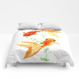 Goldfish, Feng Shui Asian Watercolor Comforters