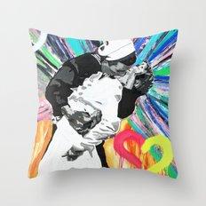 Kiss - Time Square Kiss Throw Pillow