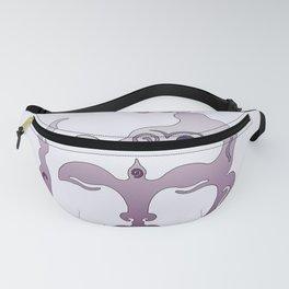 Buddha Head violet - grey Fanny Pack