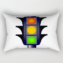 Hooded Traffic Lights Rectangular Pillow