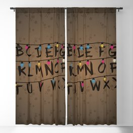 Christmas bulbs alphabet Blackout Curtain