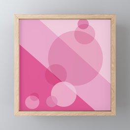 Pink Spheres Abstract Framed Mini Art Print