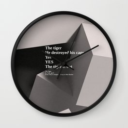 inspirational poem on 3d render Wall Clock