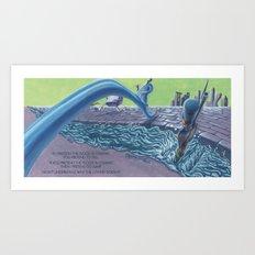 POEM OF FLOOD Art Print