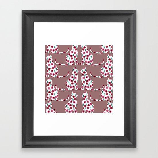 Flowercats! Framed Art Print