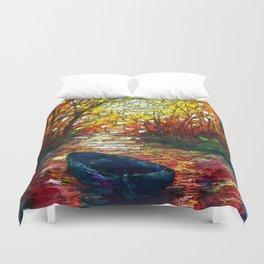 OLena Art, sunset, landscape, artwork, artistic, impressive, illustration, painting, sceni OLena Art Duvet Cover